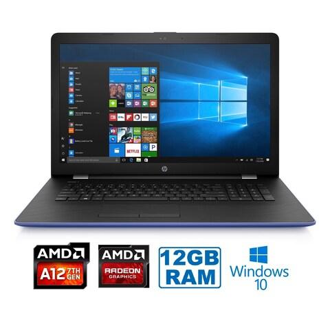 "HP 17-AK012AMD A12-9720P Quad-Core 12GB 1TB HDD 17.3"" HD+ WLED Laptop"