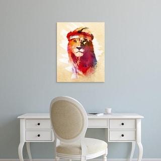 Easy Art Prints Robert Farkas's 'Gym Lion' Premium Canvas Art