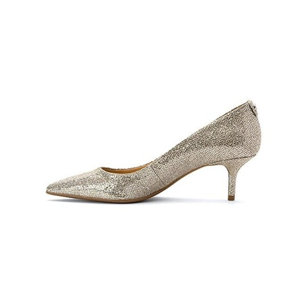 b78d82748115 MICHAEL Michael Kors Womens MK Flex Dress Heels Metallic Kitten Heel - 7.5  medium (b