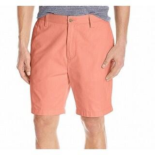 Nautica Coral Pink Mens Size 40 Classic-Fit Khakis Deck Short
