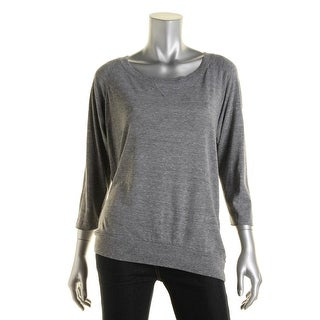 Nation LTD Womens Heathered Long Sleeves Pullover Top
