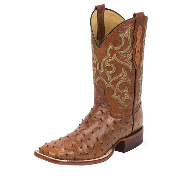 Justin Western Boots Mens Quill Exotics Cowboy Truman Cognac 8516