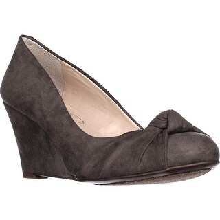 Jessica Simpson Siennah Wrap Toe Wedge Pumps, Gnocchi Grey