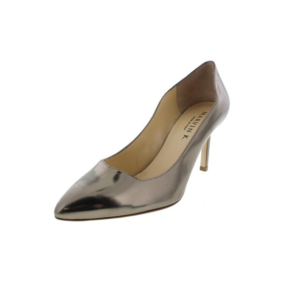 Marvin K. Womens Carrie Pumps Leather Solid