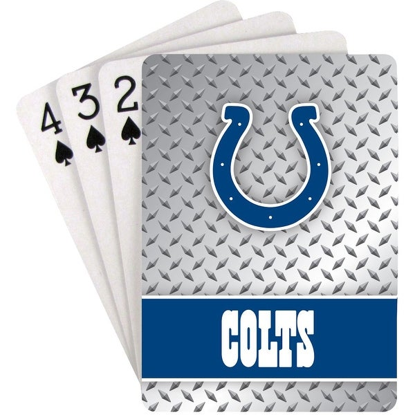 Indianapolis Colts Playing Cards - Diamond Plate