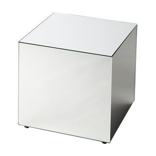 Offex Emerson Mirrored Square Bunching Cube - Clear