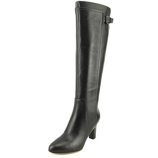 Via Spiga Parca Women Pointed Toe Leather Black Knee High Boot