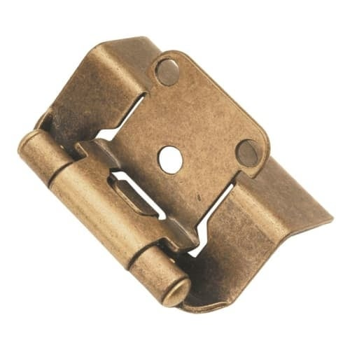 Hickory Hardware P5710F Package of 2 Full Wrap Self Closing Hinges
