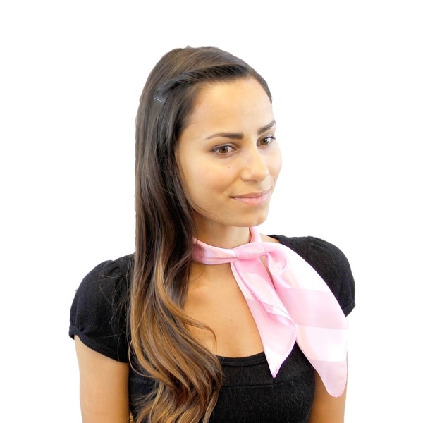Seeing Stripes Square Satin Striped Scarf