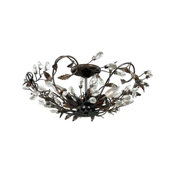 "Vaxcel Lighting C0023 Jardin 4-Light 19"" Wide Flush Mount Indoor Ceiling Fixture with Accent Crystal Beads - 19"" Wide"
