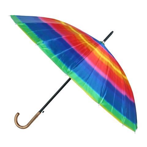CTM® Tie Dye Print Stick Umbrella with Hook Handle - one size