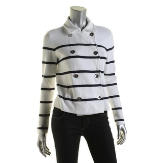 Lauren Ralph Lauren Womens Casual Blazer Knit Striped