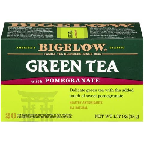 Bigelow Green Tea with Pomegranate 1.37 Oz (Pack of 6)