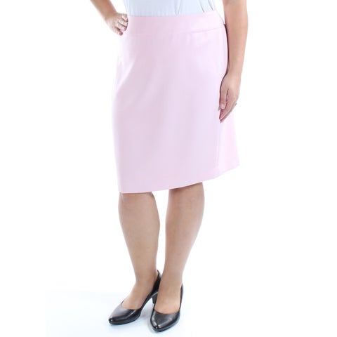 Womens Pink Wear To Work Skirt Size 16