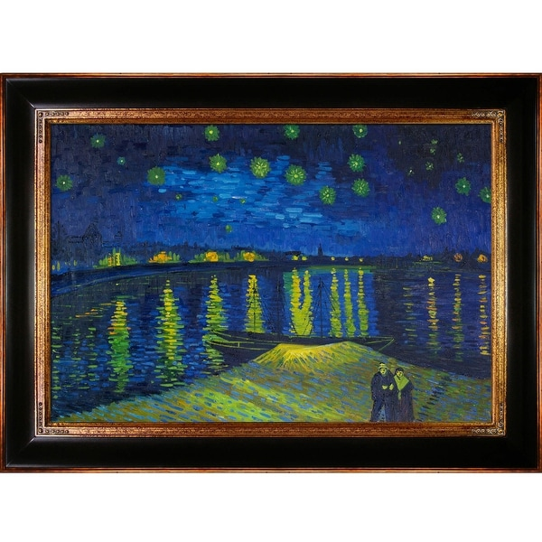 283d928225d8 Starry Night Over the Rhone by Vincent Van Gogh Framed Hand Painted Oil on  Canvas