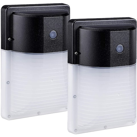 2 Pack LED Wall Pack Light, Dusk to Dawn Outdoor Security Lights