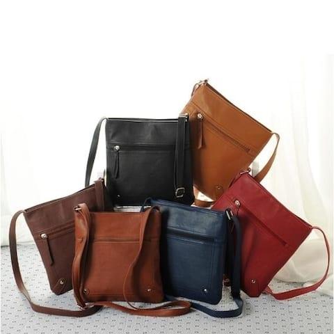 Women's Fashion Faux Leather Handbag Satchel Cross Body Bag