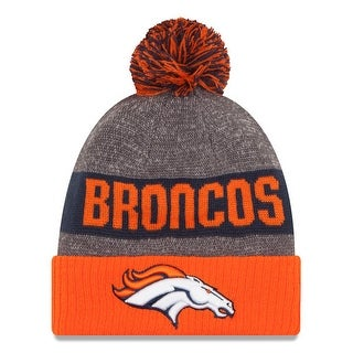 New Era NFL 2016 Sideline Knit Pom Beanie Hat - Denver Broncos