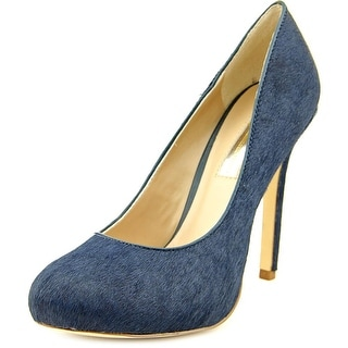 INC International Concepts Lilly Round Toe Suede Heels