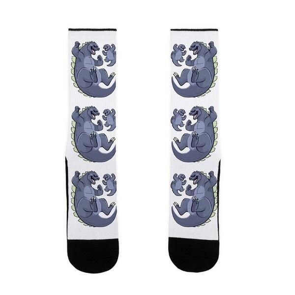 LookHUMAN Big Bad Disaster Dad US Size 7-13 Socks