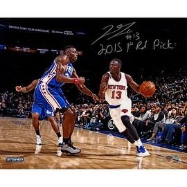 """Jerian Grant Signed Knicks 16x20 Metallic Photo w/ """"2015 1st Rd Pick"""" Insc"""