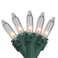 4' x 6' Clear Mini Twinkle Net Style Christmas Lights - Green Wire