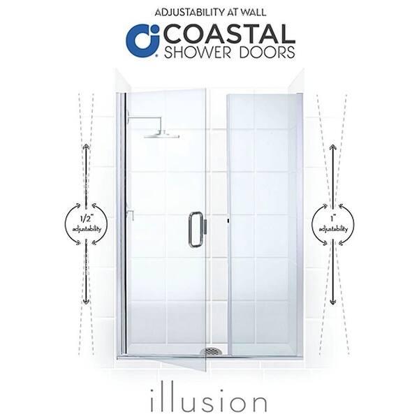 Coastal Shower Doors Hc55il 75 C Illusion Series 55 X 75 Frameless Overstock 28320939