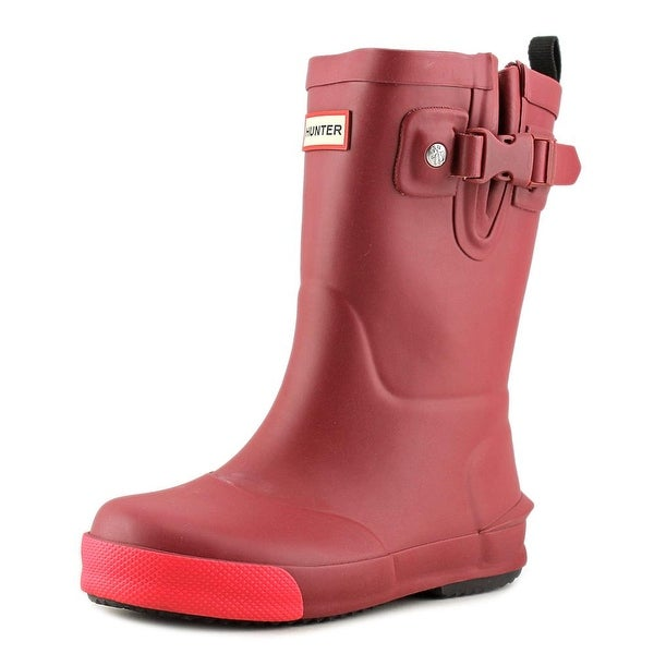 Hunter Original Kids Youth Round Toe Synthetic Burgundy Rain Boot