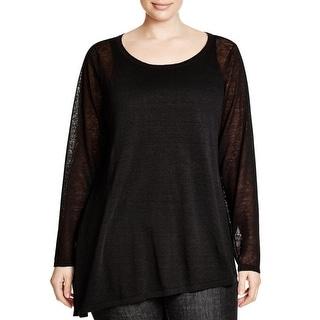 Eileen Fisher Womens Plus Tunic Sweater Linen Blend Ballet Neck - 2x