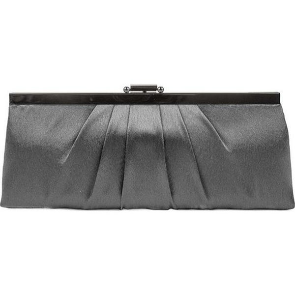 044b0a1c81 Jessica McClintock Women's Blaire Framed Satin Clutch Pewter - US Women's  One Size (Size None)