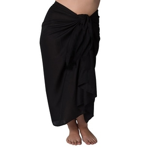 Plus Size Long Sarong Black
