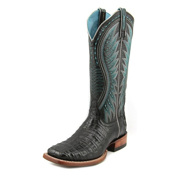 556dcbb4e384 Ariat Vaquera Caiman Women Square Toe Leather Multi Color Western Boot