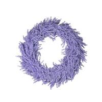 "26"" Spring Vibrant Purple Artificial Wisteria Inspired Flower Wreath"