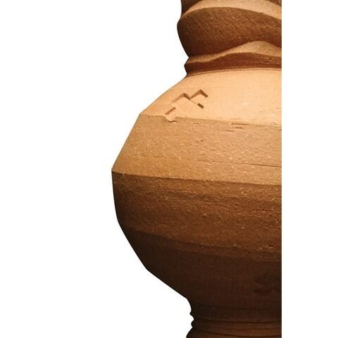 AMACO High Fire Moist Non-Toxic Stoneware Clay, 50 lb, Warm Brown 58-M