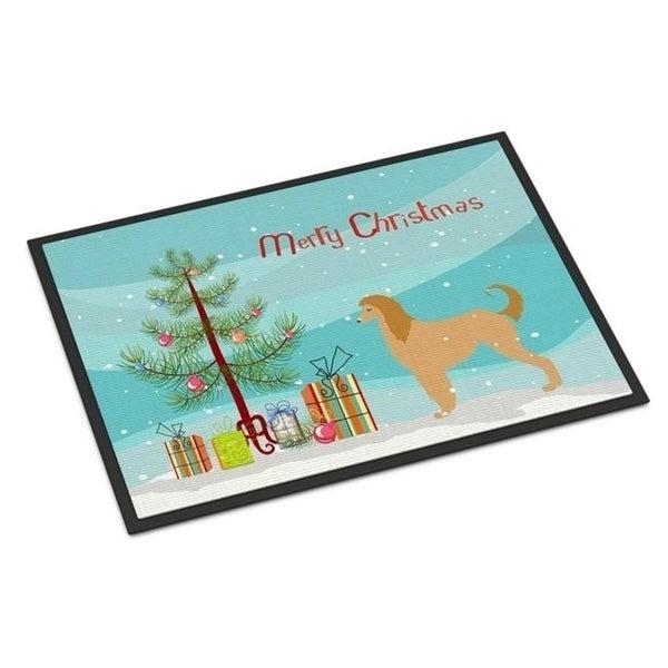 Carolines Treasures BB2924JMAT Afghan Hound Merry Christmas Tree Indoor or Outdoor Mat 24 x 36