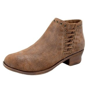 Minnetonka Boots Womens Brenna Ankle Zip Suede Vintage Brown