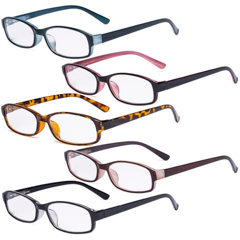 Eyekepper 5 Pack Small Reading Glasses for Women Fashion Readers