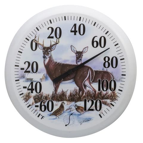 Taylor 90007-22 Country Deer Dial Thermometer