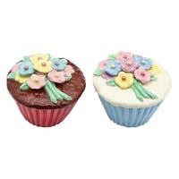 Cosmos Gifts 61825 Flower Cupcake Salt And Pepper