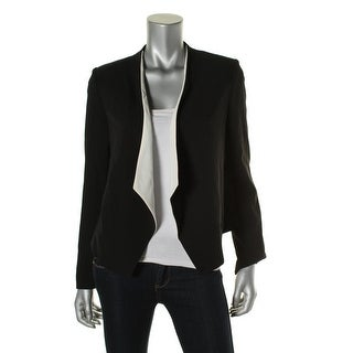 Calvin Klein Womens Suits Drapey Colorblock Collarless Blazer