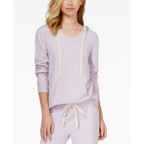 Alfani Intimates Women's $42.50 Long-Sleeve Hooded Pajama Top Lilac XS