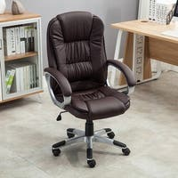 Belleze Ergonomic Office PU Leather Chair Executive Computer Hydraulic, Brown
