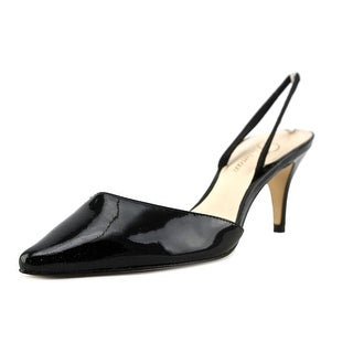 Delman Laci Women  Pointed Toe Patent Leather  Slingback Heel