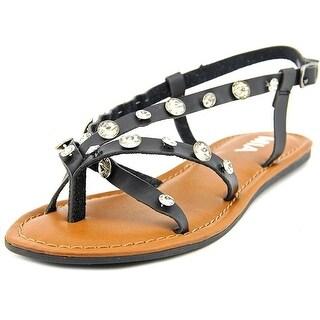 MIA Peace Embellished Flat Slingback Sandals