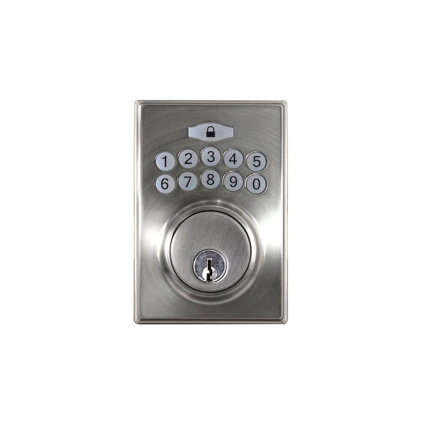 Hickory Hardware HH075773 Single Cylinder Grade 3 Electronic Keyless Entry Deadbolt with Contemporary Square Rose and - N/A