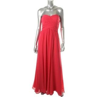 Ralph Lauren Womens Evening Dress Chiffon Strapless - 10