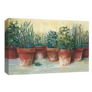 "PTM Images 9-153599  PTM Canvas Collection 8"" x 10"" - ""Potted Herbs II"" Giclee Herbs Art Print on Canvas"