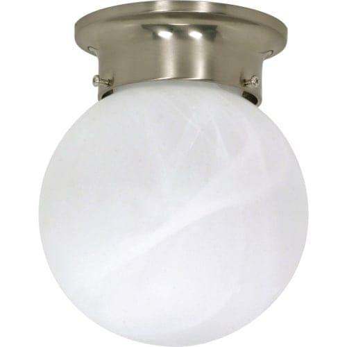 "Nuvo Lighting 60/257 Single Light 6"" Wide Flush Mount Ceiling Fixture"