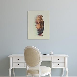 Easy Art Prints Andreas Lie's 'The Owl' Premium Canvas Art