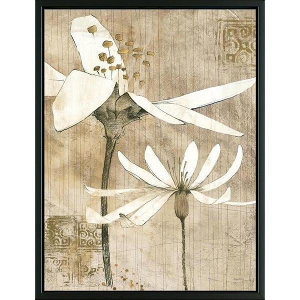Easy Art Prints Avery Tillmon S Pencil Floral Ii Premium Canvas Art Overstock 25743859